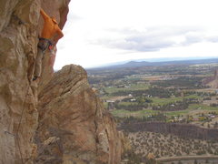 Rock Climbing Photo: Possibly R rated due to this run to the 2nd bolt. ...
