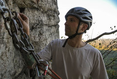 Rock Climbing Photo: At the chains
