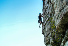 Rock Climbing Photo: Chris up on High E.