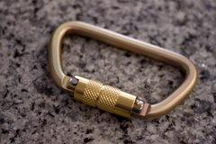 $5 steel locking biner