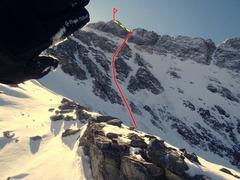 Rock Climbing Photo: North Face of Mount Borah