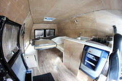 Rock Climbing Photo: Inside van.