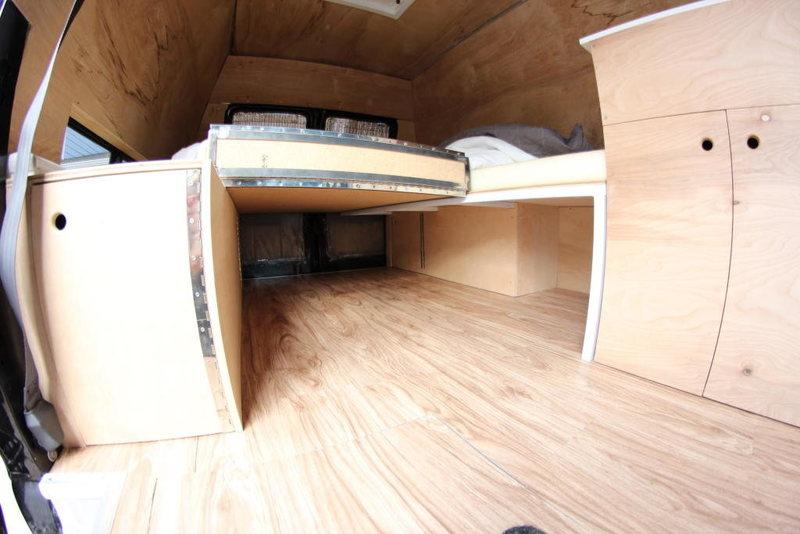 Storage under bed.