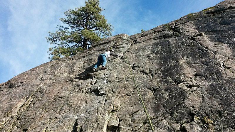 Kari on her first climb Special K