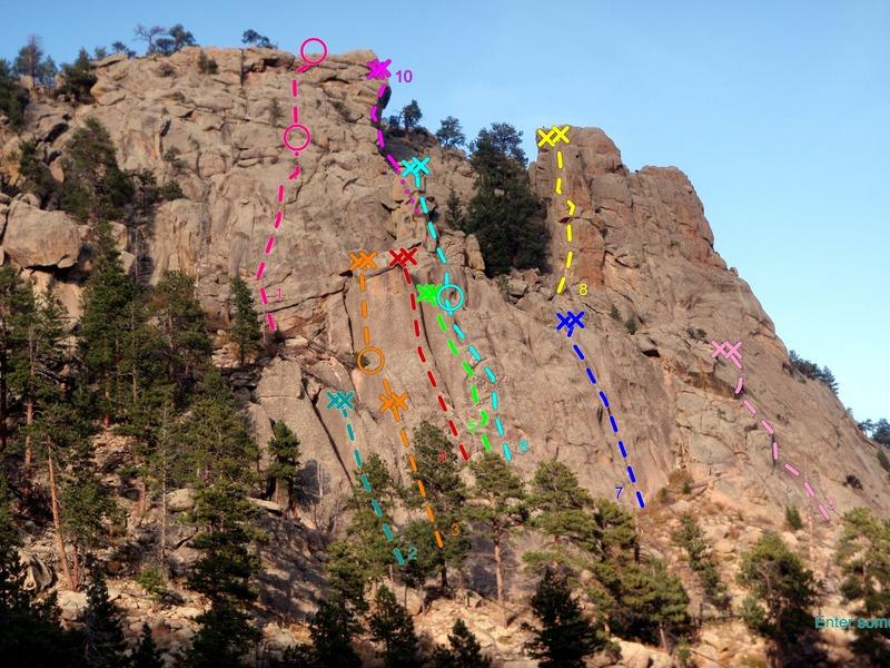 Rock Climbing Photo: Left side, Main Crag, Crosier Mountain Crags:  1) ...