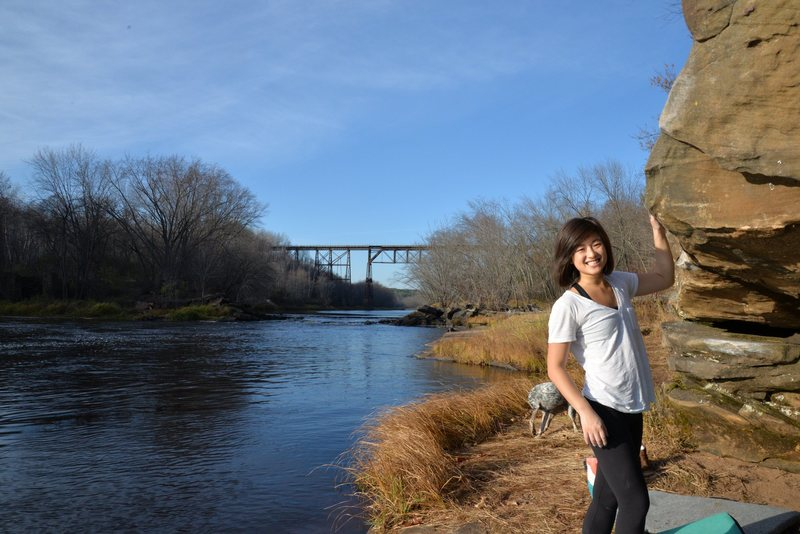 Rock Climbing Photo: Hanging by the river.