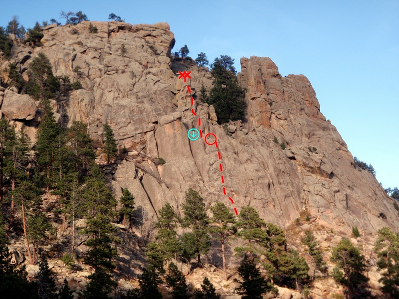 Rock Climbing Photo: Totem Tower with the Cam-ouflage rappel.