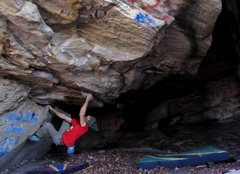 "Rock Climbing Photo: Parlier climbing out of the start for ""Flag R..."