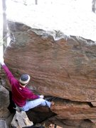 Rock Climbing Photo: Placing the toe-cam