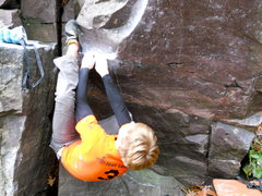 Rock Climbing Photo: Skyler at the start