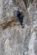 Rock Climbing Photo: Brian past the awkward start slab moves and onto t...