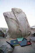 Rock Climbing Photo: Thin Crack at Horse Flats