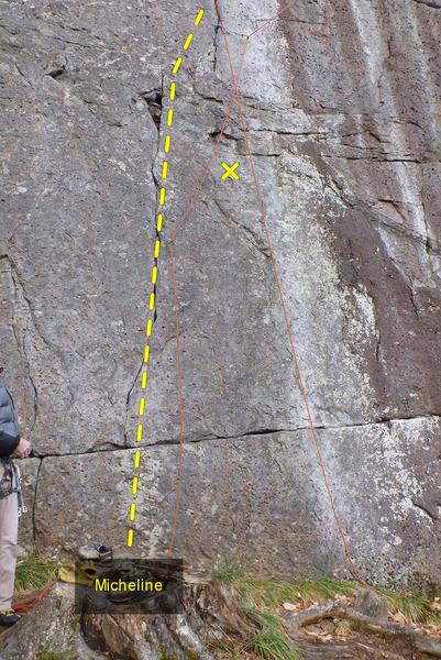 Rock Climbing Photo: Micheline, Start