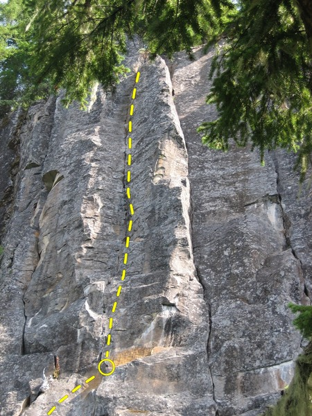 Rock Climbing Photo: Case of the Blue's 2nd pitch.