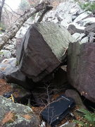 Rock Climbing Photo: Trash Panda V5. Near the railroad tracks, bottom o...