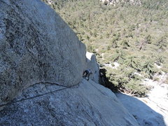 Rock Climbing Photo: Pitch 3 Lieback.  Nice and sustained.