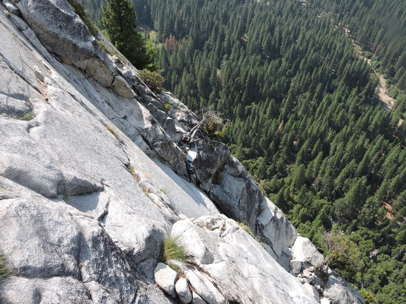 Looking across at the pendulum on pitch 9.