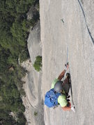 "Rock Climbing Photo: ""Walking the tightrope"" at the top of pi..."