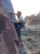 Rock Climbing Photo: Jeff on the first crux on The Edibles