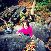 Rock Climbing Photo: My awesome daughter Mik following in my footsteps!