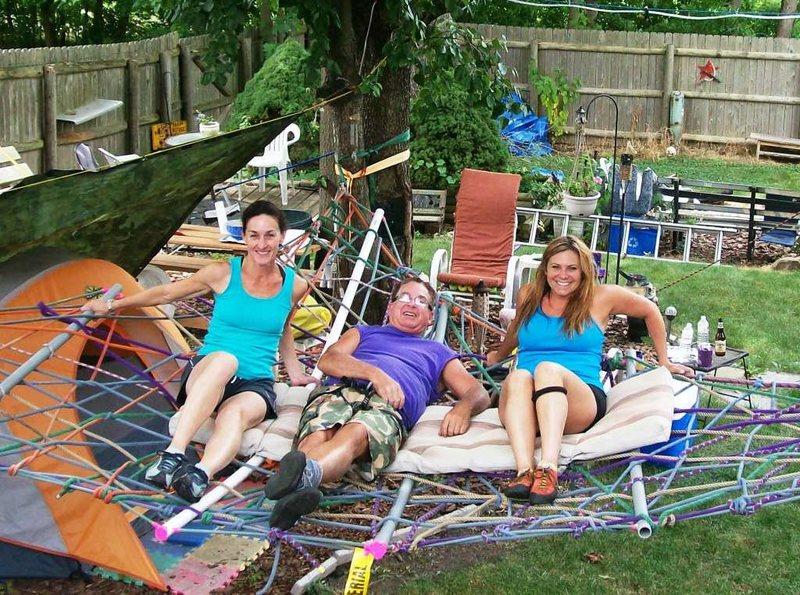 backyard rope hammock