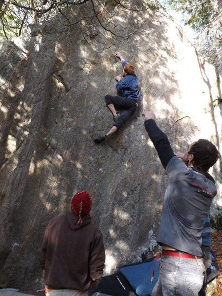 Rock Climbing Photo: Climbing through the great zigzag edges on Waiting...