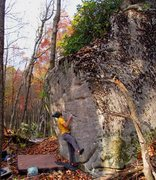"""Rock Climbing Photo: Parlier on the start and FA of """"Lost Track&qu..."""