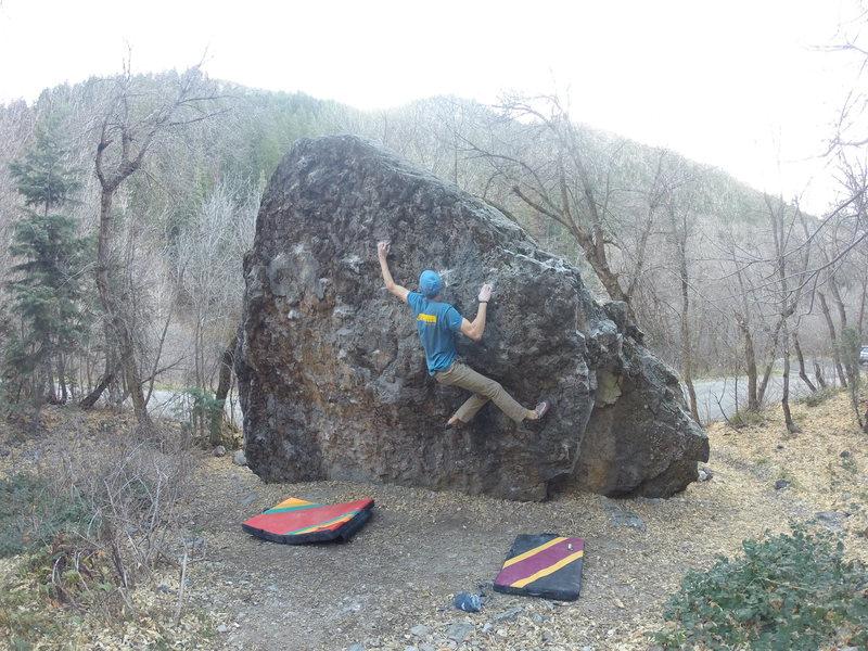 Rock Climbing Photo: the reach