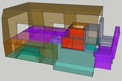 Rock Climbing Photo: SketchUp van plan.