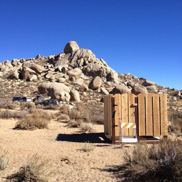 Rock Climbing Photo: Looks like the pit toilet is finally happening at ...