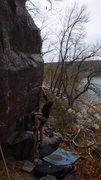 Rock Climbing Photo: Baker with his beta.