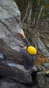 Rock Climbing Photo: The cross-over move.