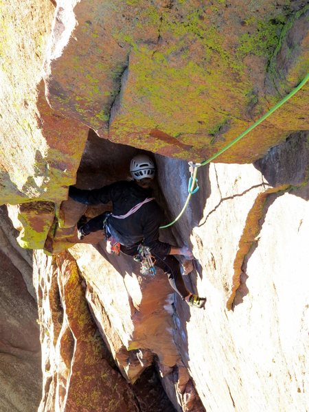 Rock Climbing Photo: Pitch after classic pitch.  What a fantastic climb...