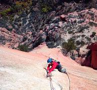 Rock Climbing Photo: Tricks of the trade Headwall Richard shore enjoyin...