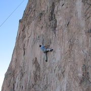 Rock Climbing Photo: Brett Weiner down low on Dancesatmoonrise.