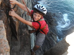 Rock Climbing Photo: Zachary Chalnick 8 years old climbing at Otter Cli...