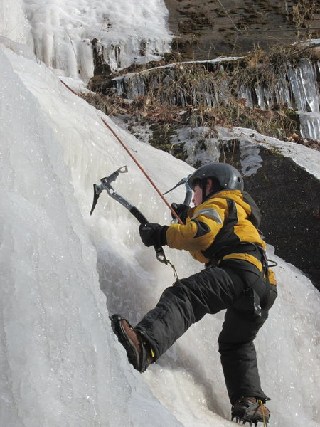 Rock Climbing Photo: JONAH CHALNICK AT 9 YEARS OLD CLIMBING ICE AT THE ...