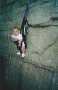Rock Climbing Photo: STARTING THEM OFF YOUNG. ALEXA CHALNICK AT 3 MONTH...