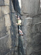 Rock Climbing Photo: JONAH CHALNICK AT 8 YEARS OLD AT OTTER CLIFFS ACAD...