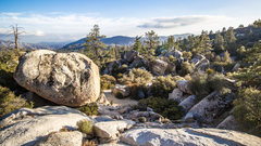 Rock Climbing Photo: The big boulder to the left is Orange Flambe and y...