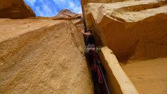 Rock Climbing Photo: Starting up P1.