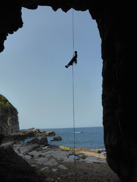 Rappelling from 10-year-old expansion bolt anchors in a roof...