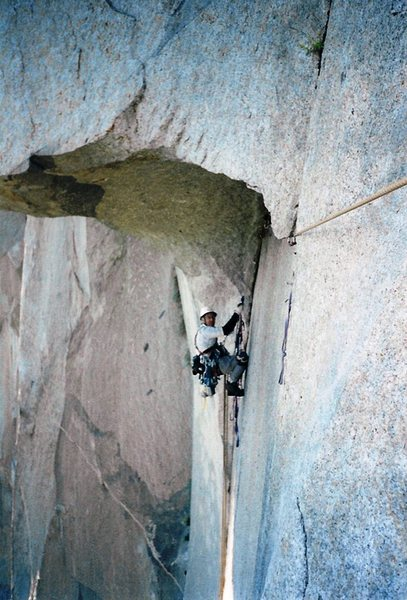 Rock Climbing Photo: My good friend Rich Rice having fun following me o...