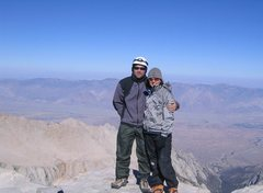 Rock Climbing Photo: My wife and I on the summit of Mt. Whitney, CA