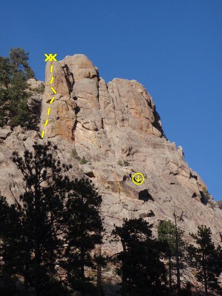 Rock Climbing Photo: Swingtime and descent.