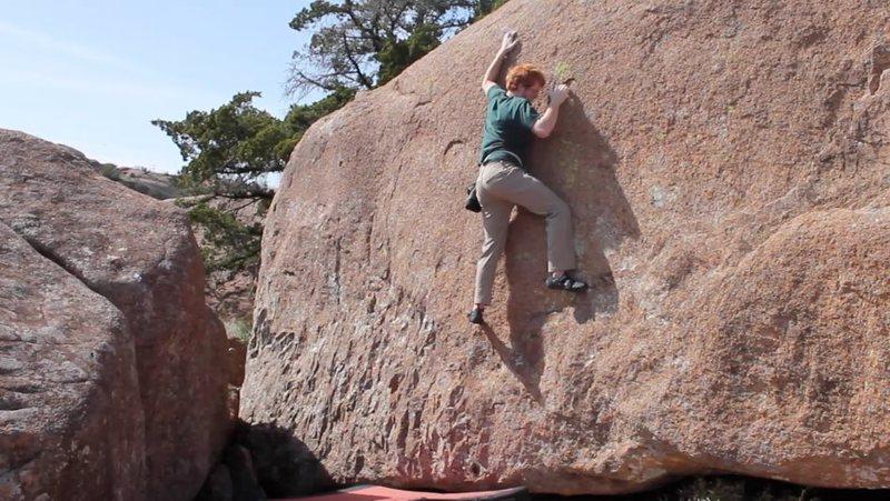 Rock Climbing Photo: headin up two holer-