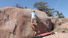 Rock Climbing Photo: micah adams checks out his first tas granite-