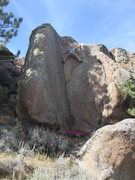 Rock Climbing Photo: Evan in the crux.