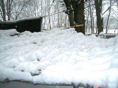 Rock Climbing Photo: deep snow on hammock last February