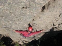 Rock Climbing Photo: Jeff Thomas leading on the FA, Steve Wolford photo